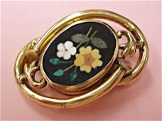 1255: Victorian pietra dura brooch