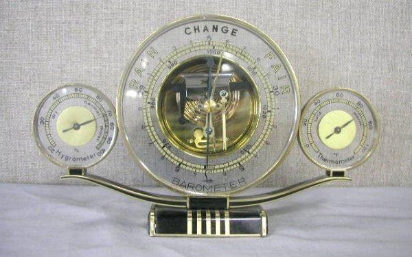 """1268: Art Deco """"Lufft"""" metal barometer"""