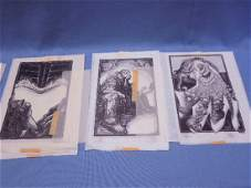 Original Franklin Mint Library illustrations Art