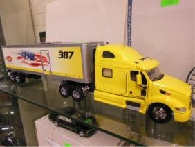 F. M. Diecast Peterbilt Tractor Trailer Display