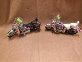 2 Franklin Mint Diecast Motorcycles