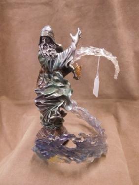 Franklin Mint Pewter Wizard Sculpture