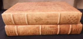 2 Franklin Mint Library Leather Bound Books