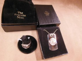 Franklin Mint Sterling Service tag and ring