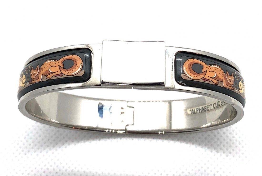 Auth Hermes Fox and Bunny Style Clic Bracelet