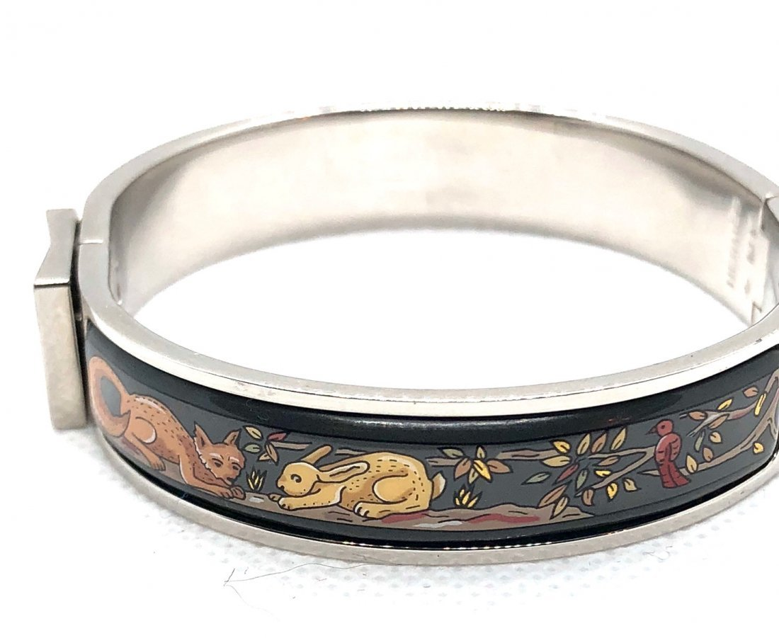 Auth Hermes Fox and Bunny Style Clic Bracelet - 2