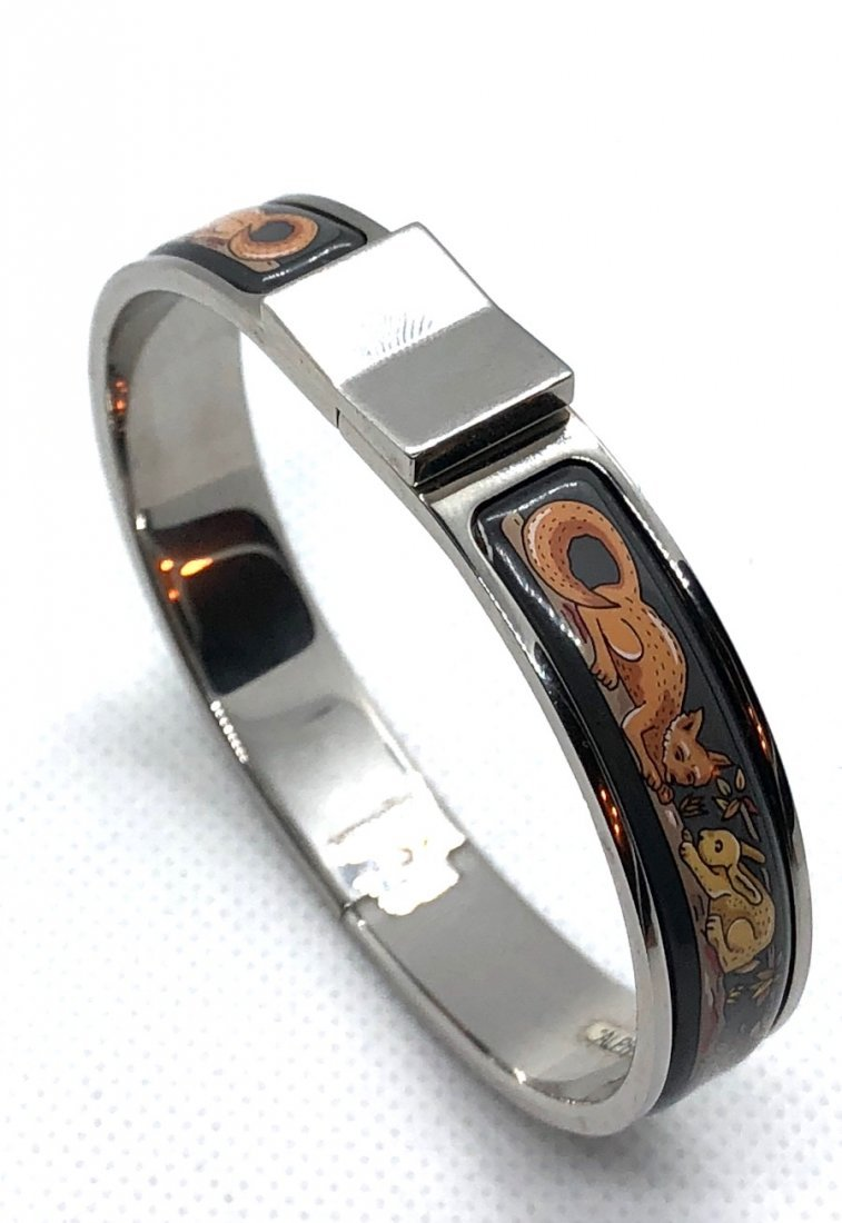 Auth Hermes Fox and Bunny Style Clic Bracelet - 3