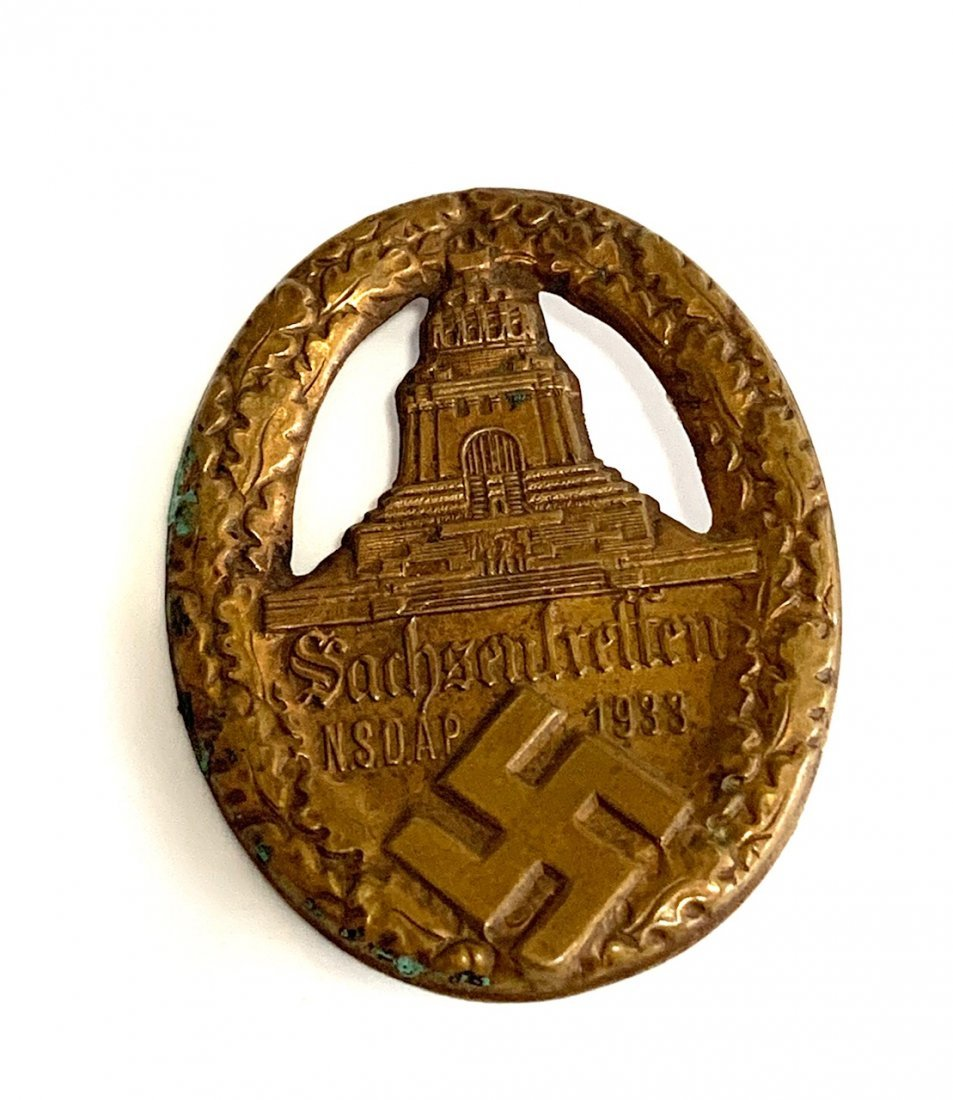 A 1933 SAXONY NSDAP MEET BADGE