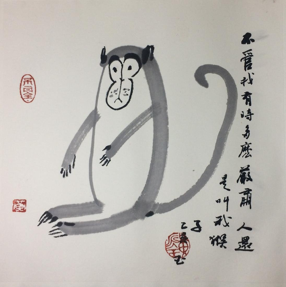 TWEELVE PAGES OF CHINESE ABLUM PAINTINGS OF ANIMALS AND - 3