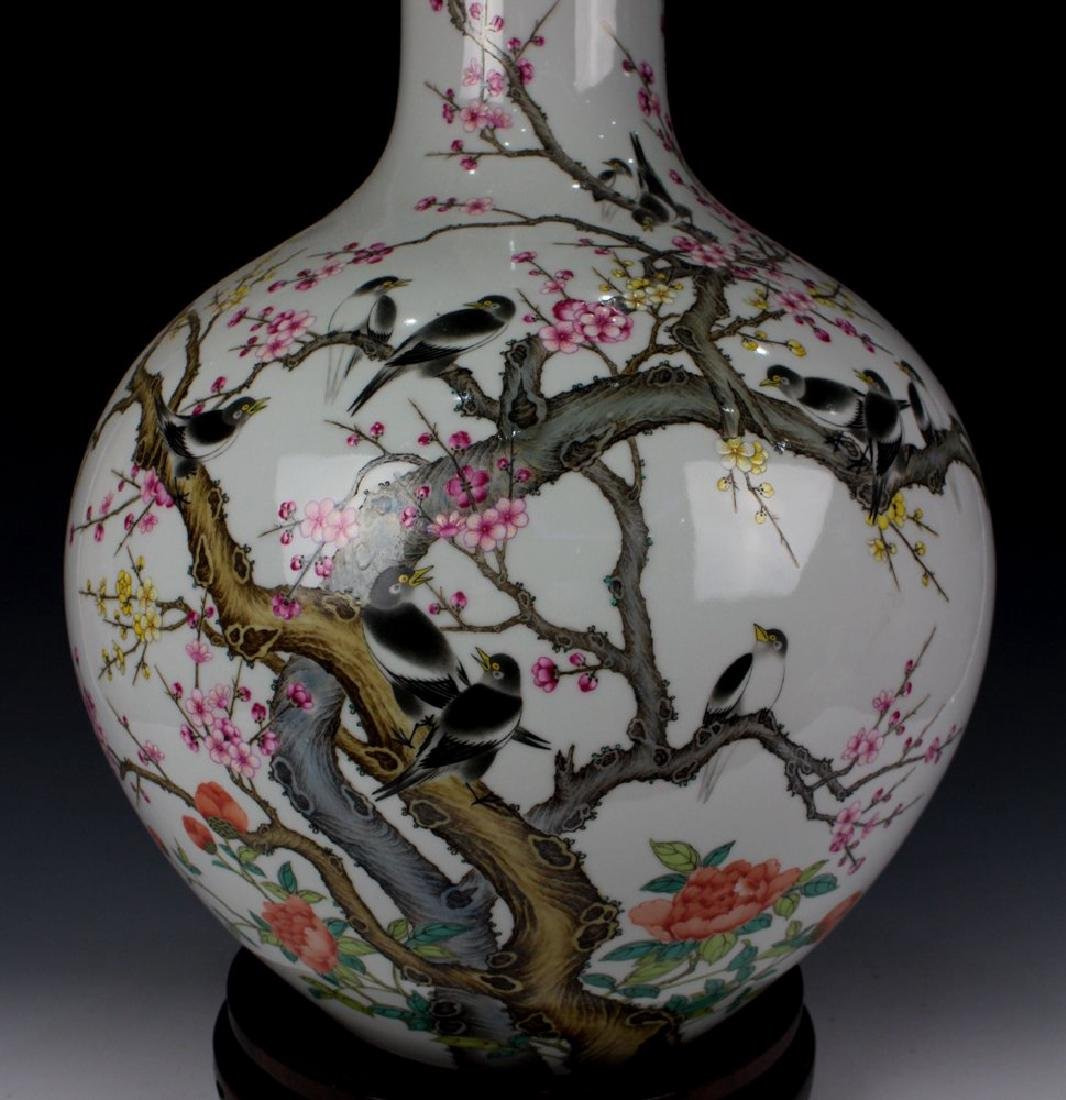 CHINESE PORCELAIN FAMILLE ROSE BIRD AND FLOWER TIANQIU - 2