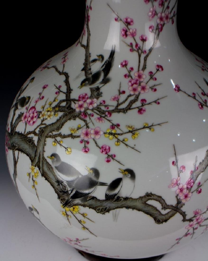 CHINESE PORCELAIN FAMILLE ROSE BIRD AND FLOWER TIANQIU - 3