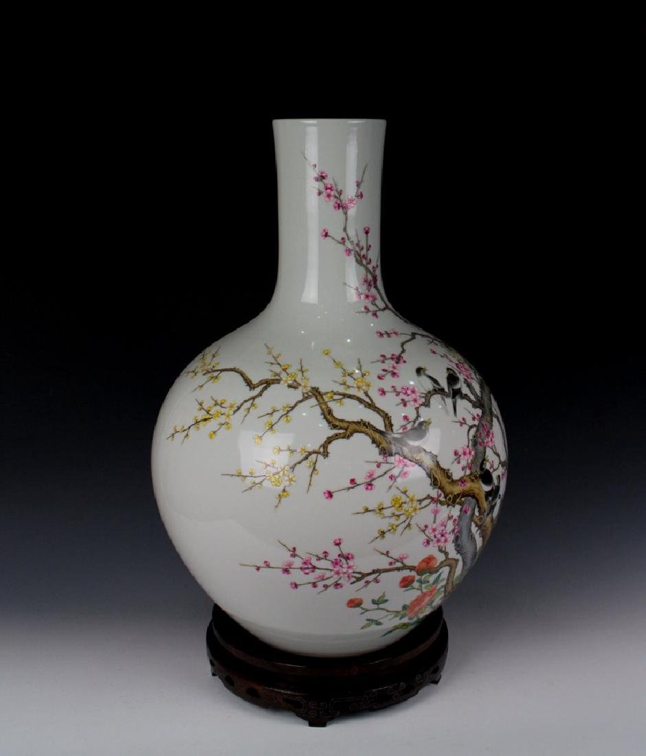 CHINESE PORCELAIN FAMILLE ROSE BIRD AND FLOWER TIANQIU - 4
