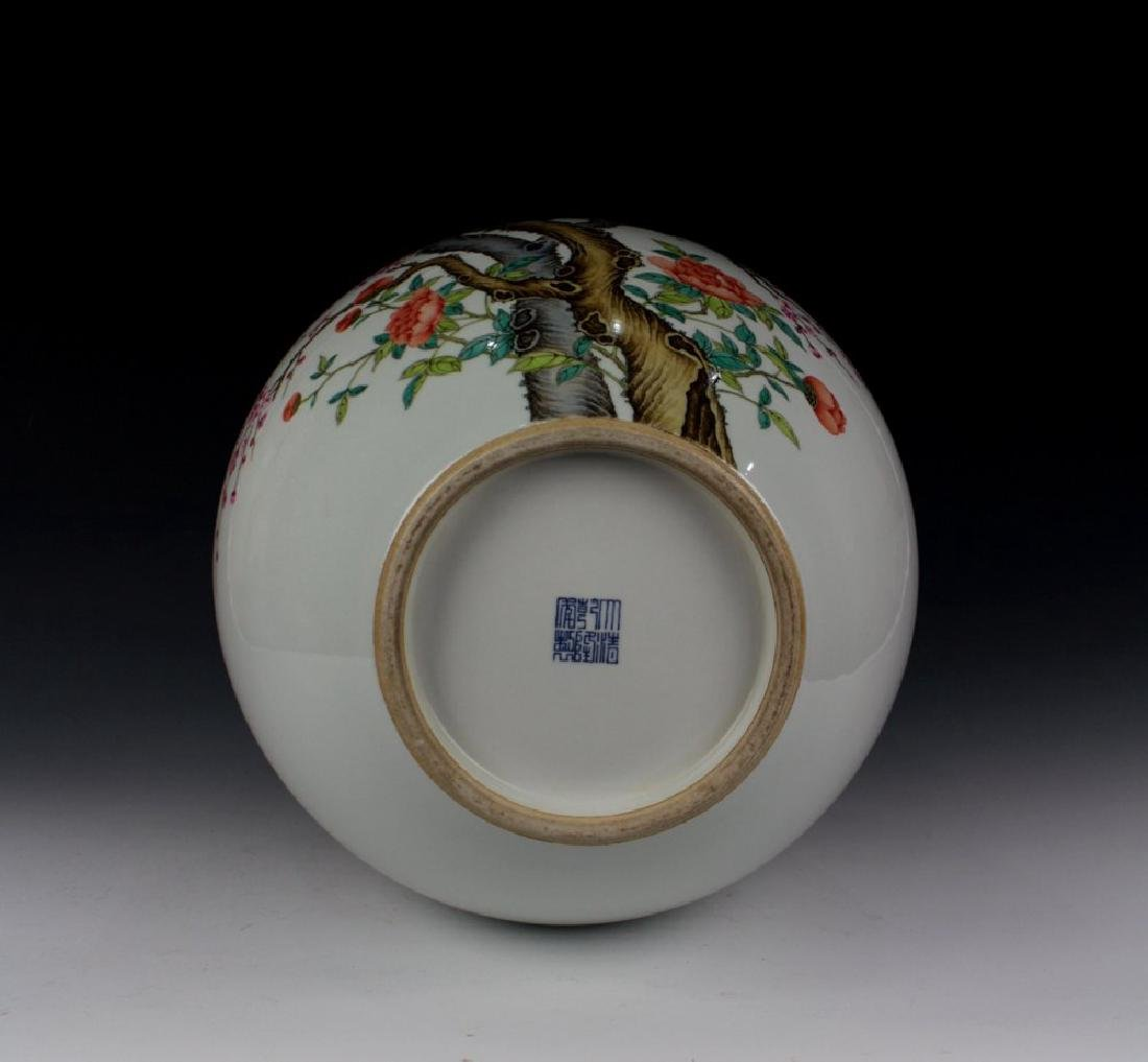 CHINESE PORCELAIN FAMILLE ROSE BIRD AND FLOWER TIANQIU - 5