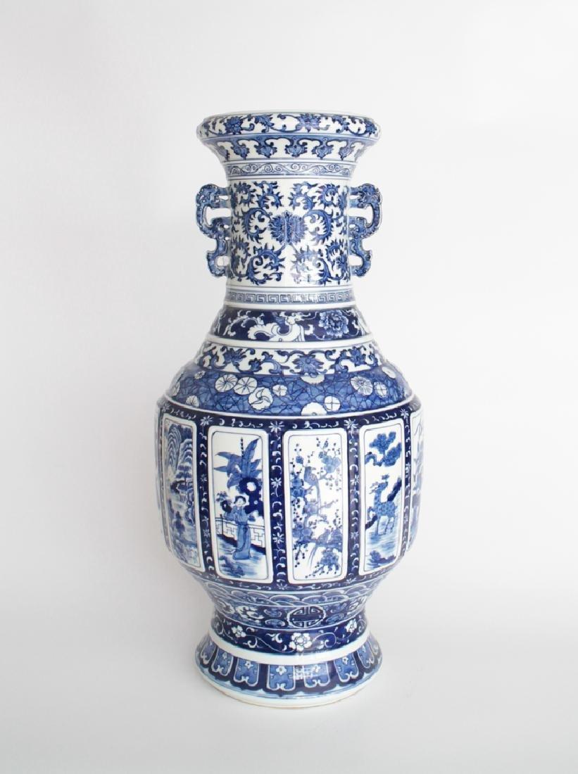 CHINESE PORCELAIN BLUE AND WHITE FLOOR VASE