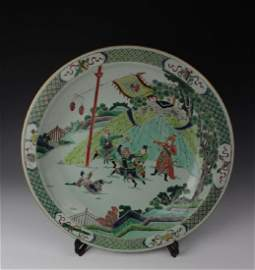CHINESE PORCELAIN WUCAI FIGURES CHARGER