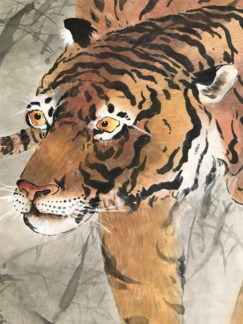 CHINESE SCROLL PAINTING OF TIGER - 2