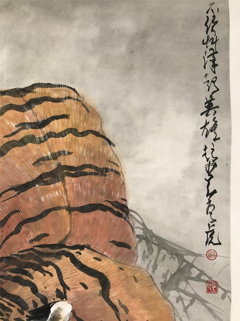 CHINESE SCROLL PAINTING OF TIGER - 3