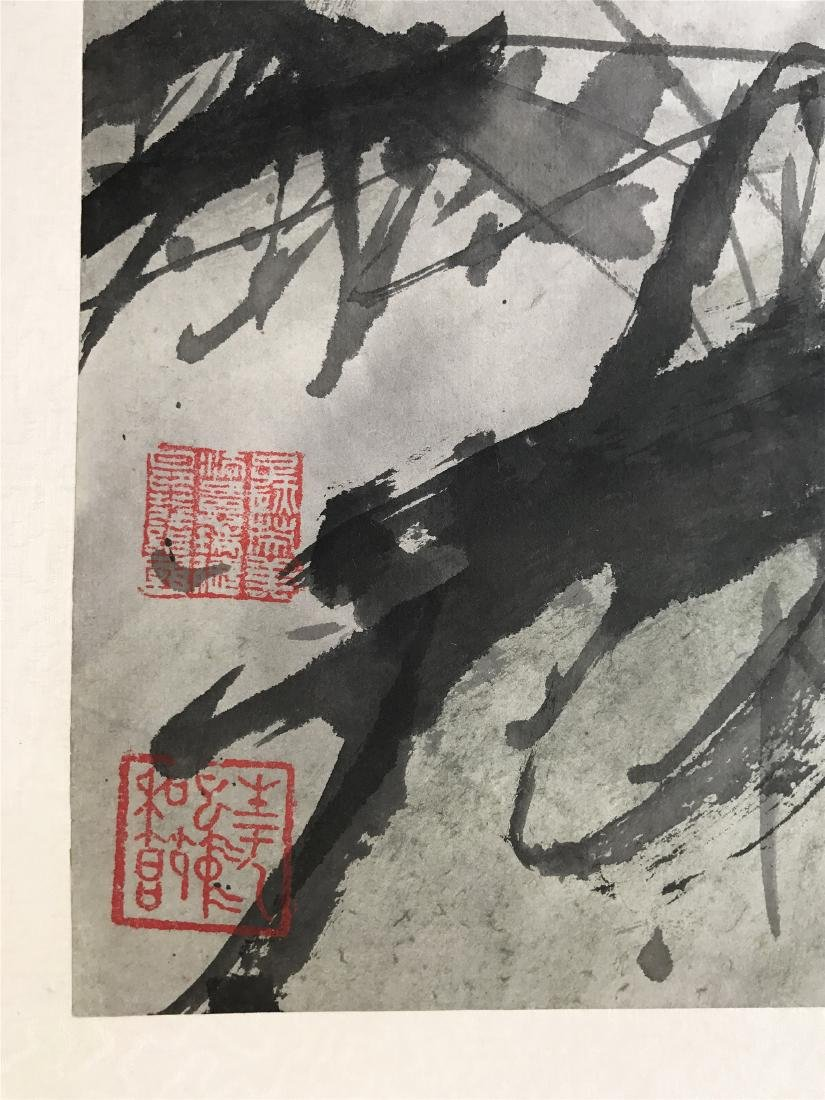 CHINESE SCROLL PAINTING OF TIGER - 5