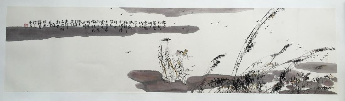 CHINESE SCROLL PAINTING OF LAKEVIEWS