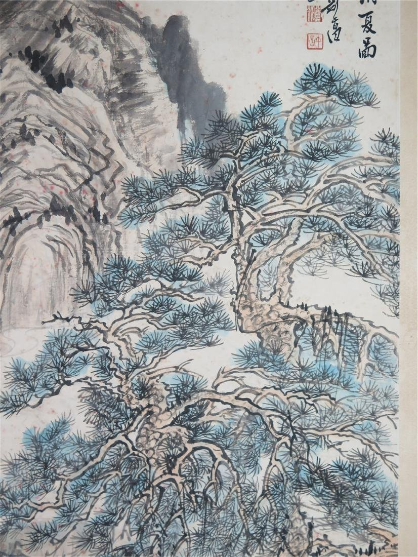 CHINESE SCROLL PAINTING OF MOUNTAIN VIEWS - 6