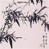 CHINESE SCROLL PAINTING OF BAMBOO