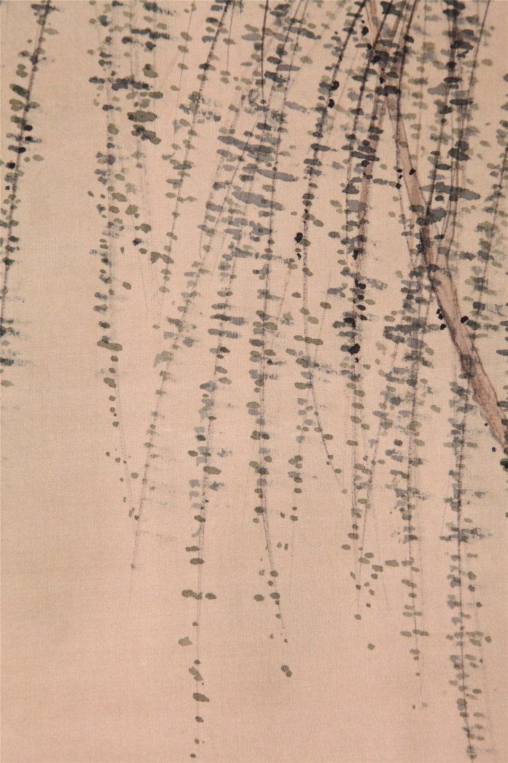 CHINESE SCROLL PAINTING OF BEAUTY UNDER WILLOW - 4