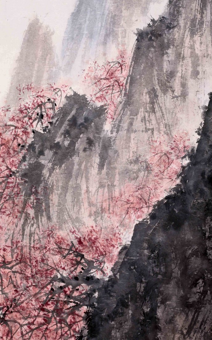 CHINESE SCROLL PAINTING OF MOUNTAIN VIEWS WITH - 4