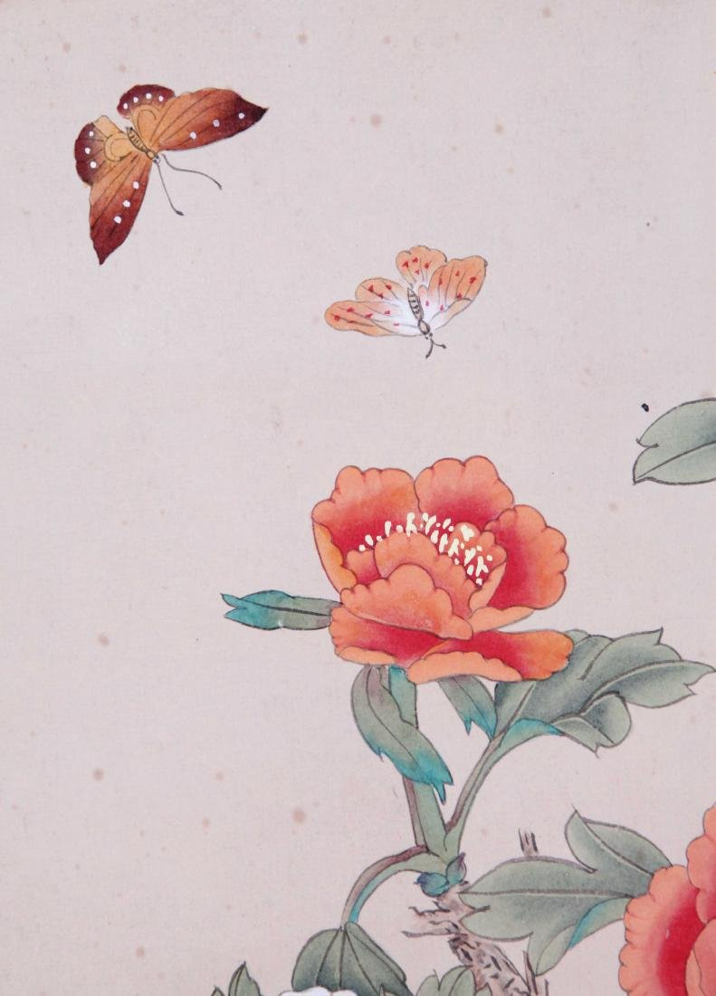 CHINESE SCROLL PAINTING OF BUTTERFLY AND FLOWER - 4