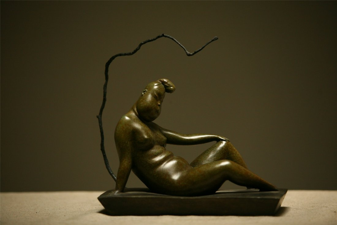 CHINESE CONTEMPORARY ART BRONZE SCULPTURE BY BAOXIAOYU