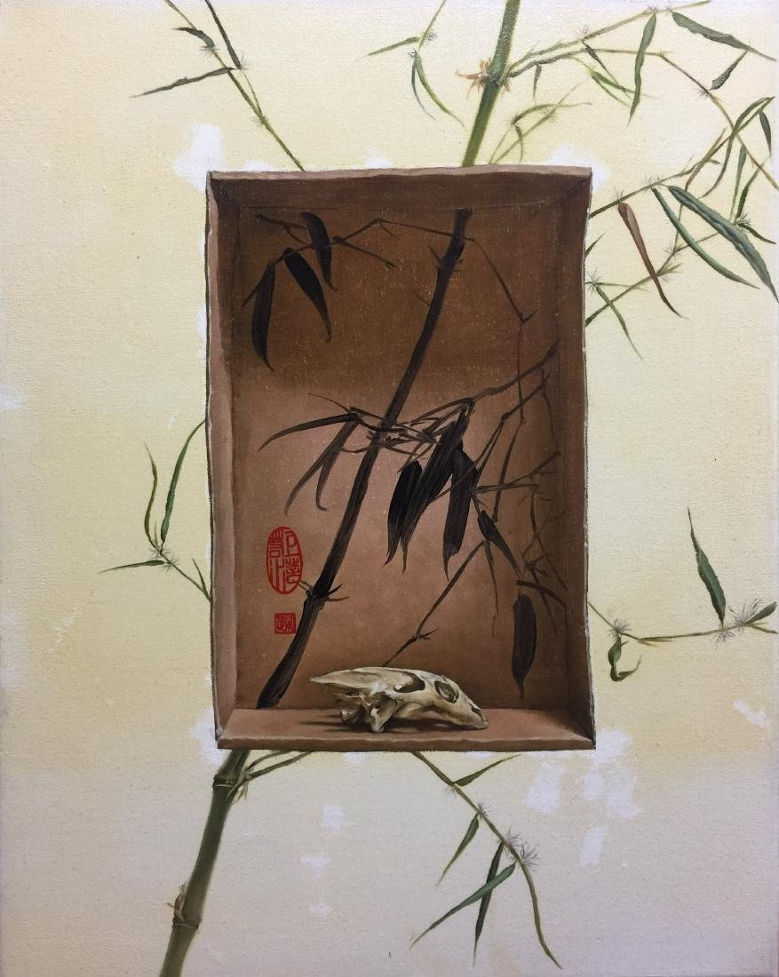 CHINESE CONTEMPORARY ART OIL PAINTING BY ZHANG YATONG