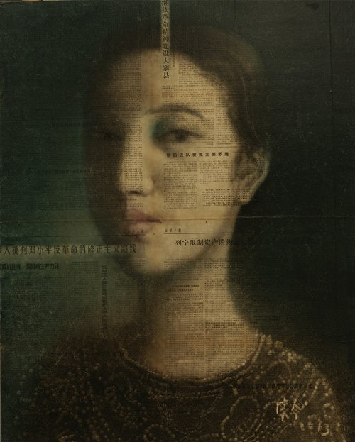 CHINESE CONTEMPORARY ART OIL PAINTING BY WANGXIAOJIN