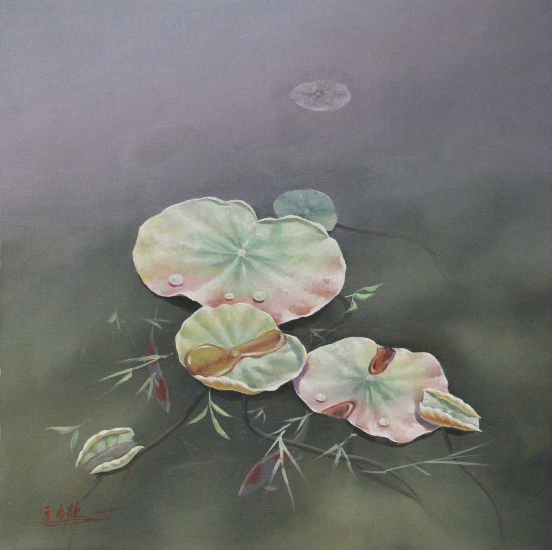 CHINESE CONTEMPORARY ART OIL PAINTING BY JINCHUNHE