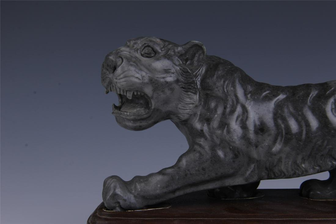 CHINESE SOAPSTONE CARVED TIGER - 2