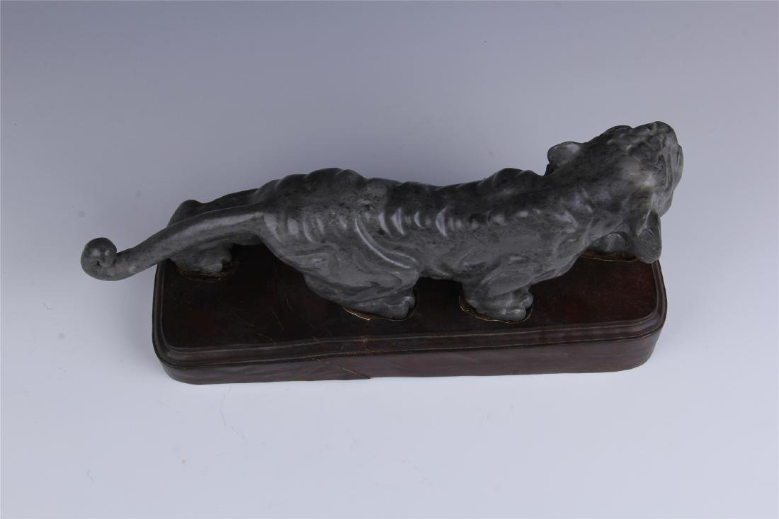 CHINESE SOAPSTONE CARVED TIGER - 6