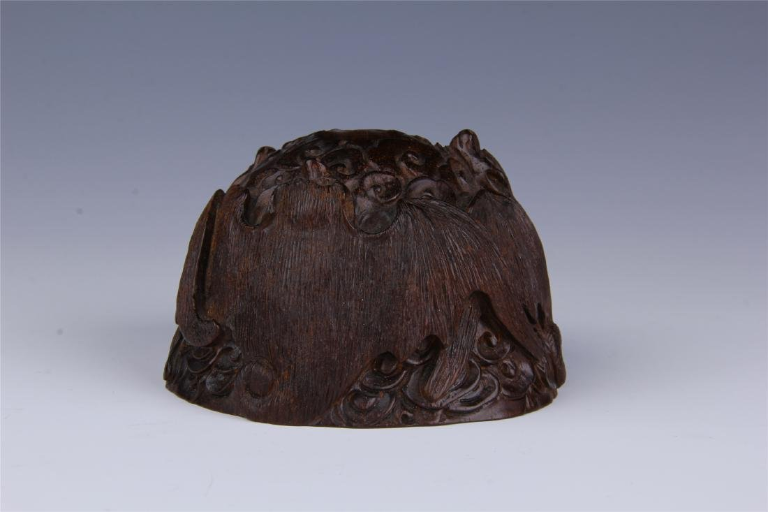 CHINESE ROSEWOOD WATER POT - 2