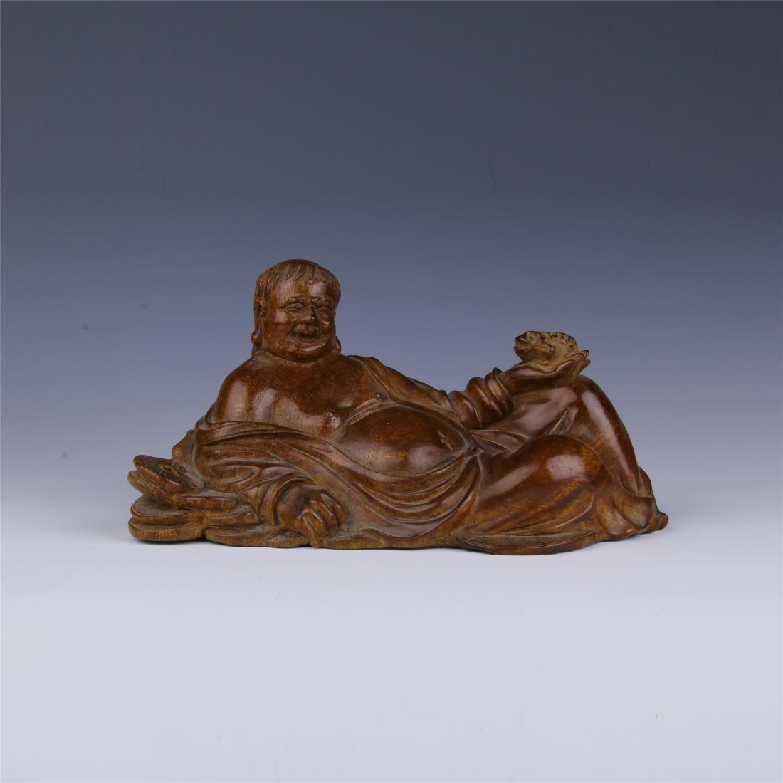 CHINESE HUALI SEATING BUDDHA
