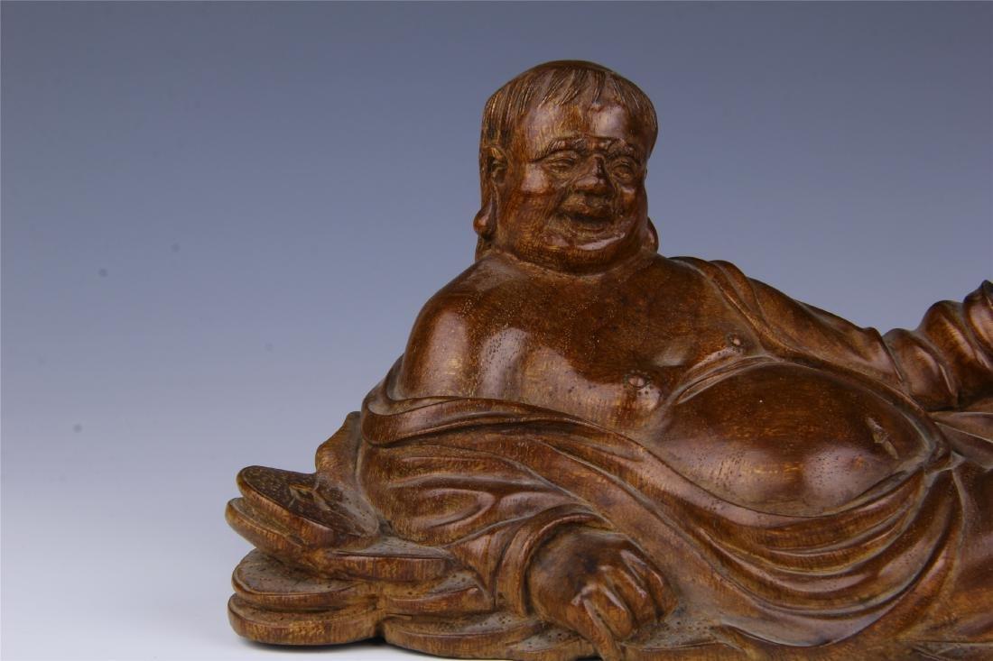 CHINESE HUALI SEATING BUDDHA - 2