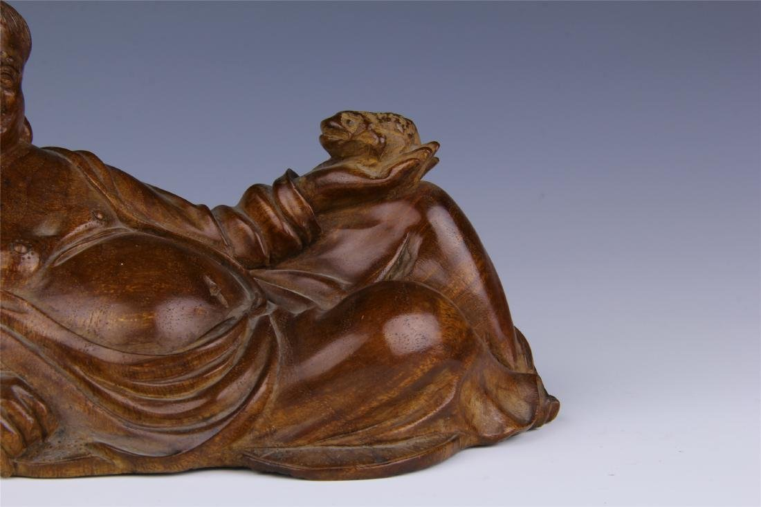 CHINESE HUALI SEATING BUDDHA - 3