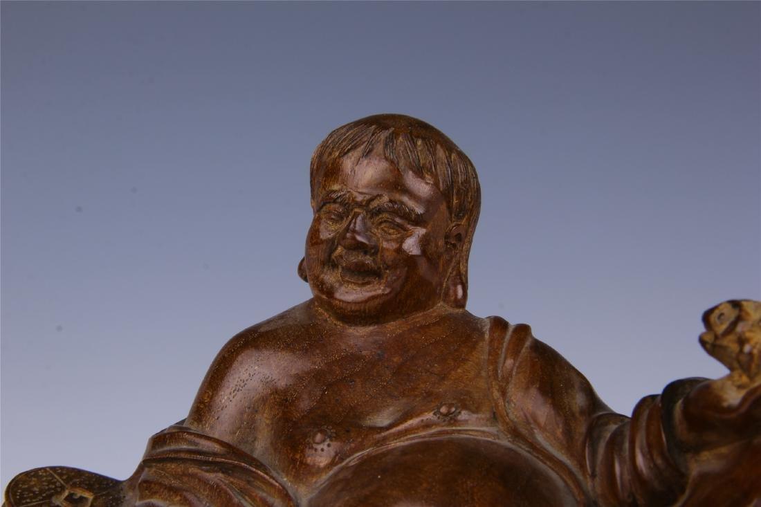 CHINESE HUALI SEATING BUDDHA - 8