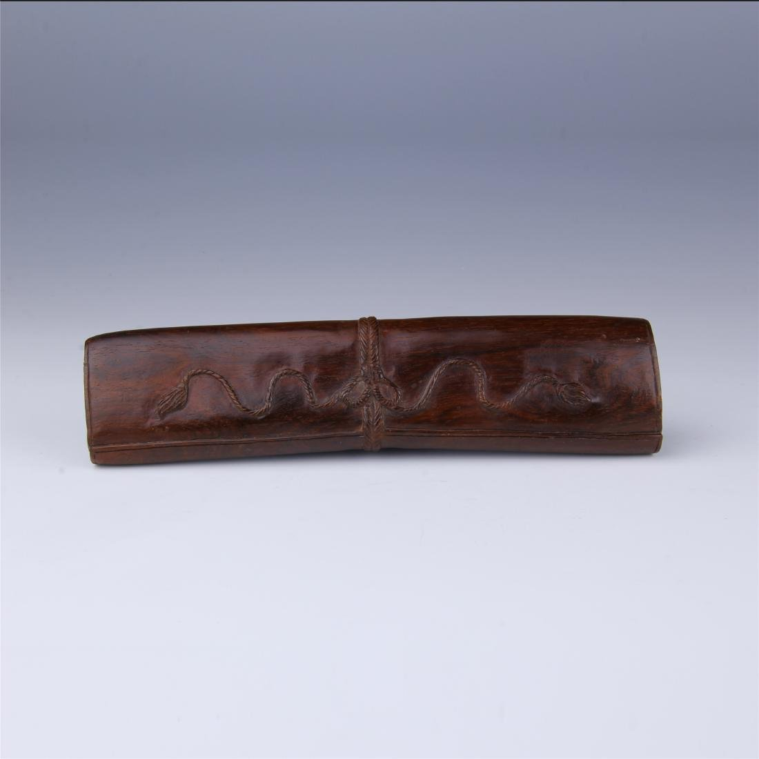 CHINESE ROSEWOOD PAPER WEIGHT