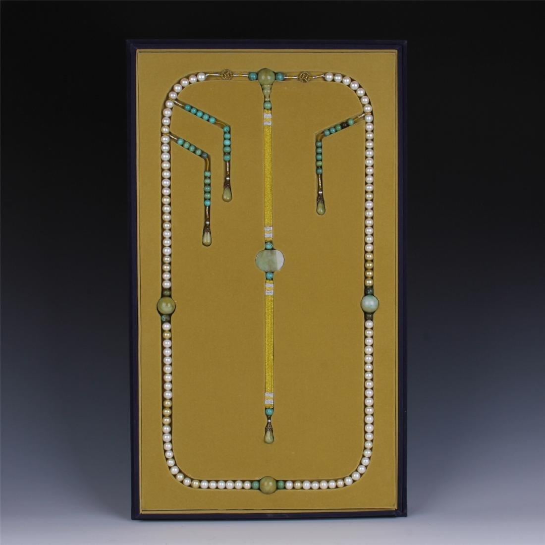 CHINESE PEARL BEAD COURT NECKLACE CHAOZHU