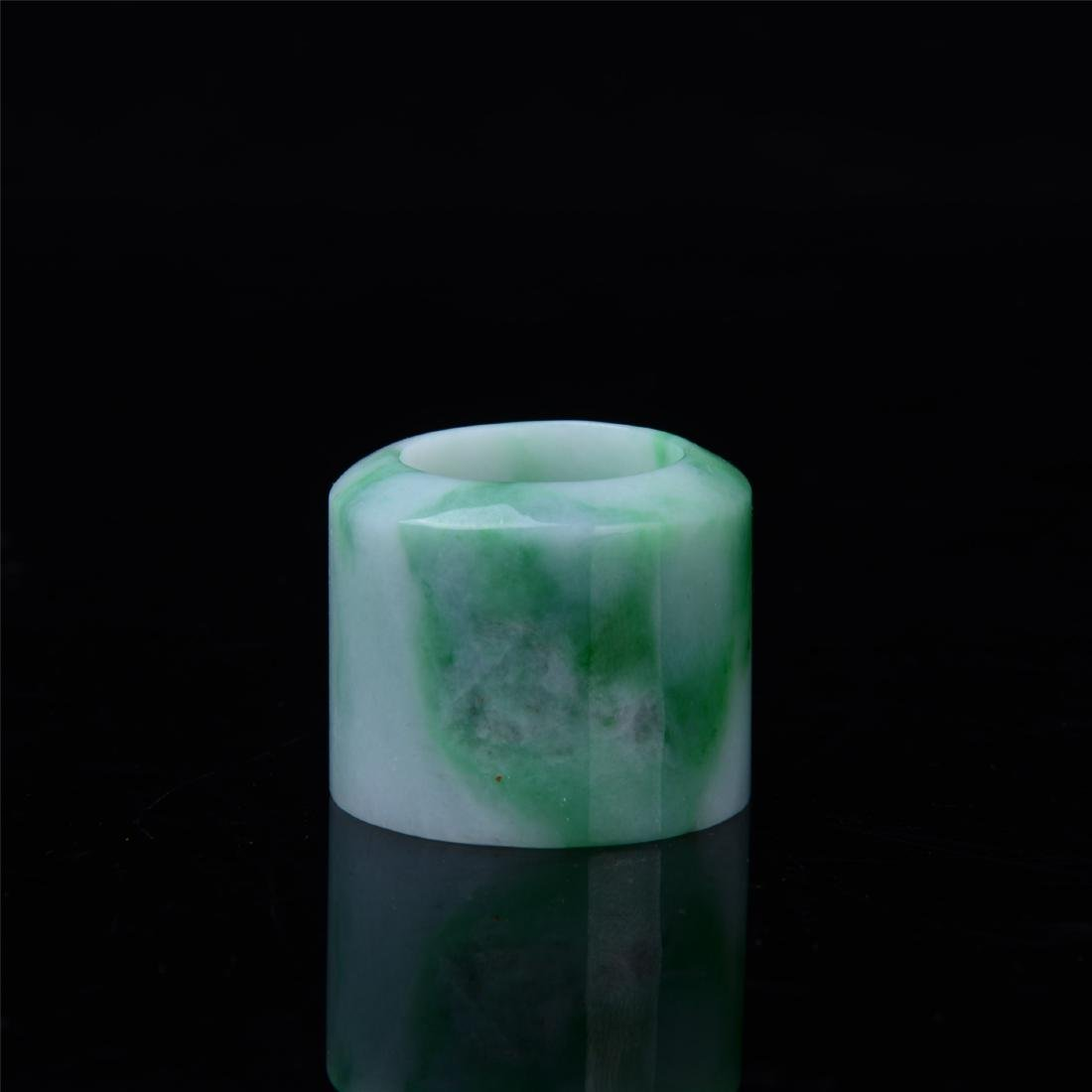 CHINESE NATURAL JADEITE ARCHOR'S RING
