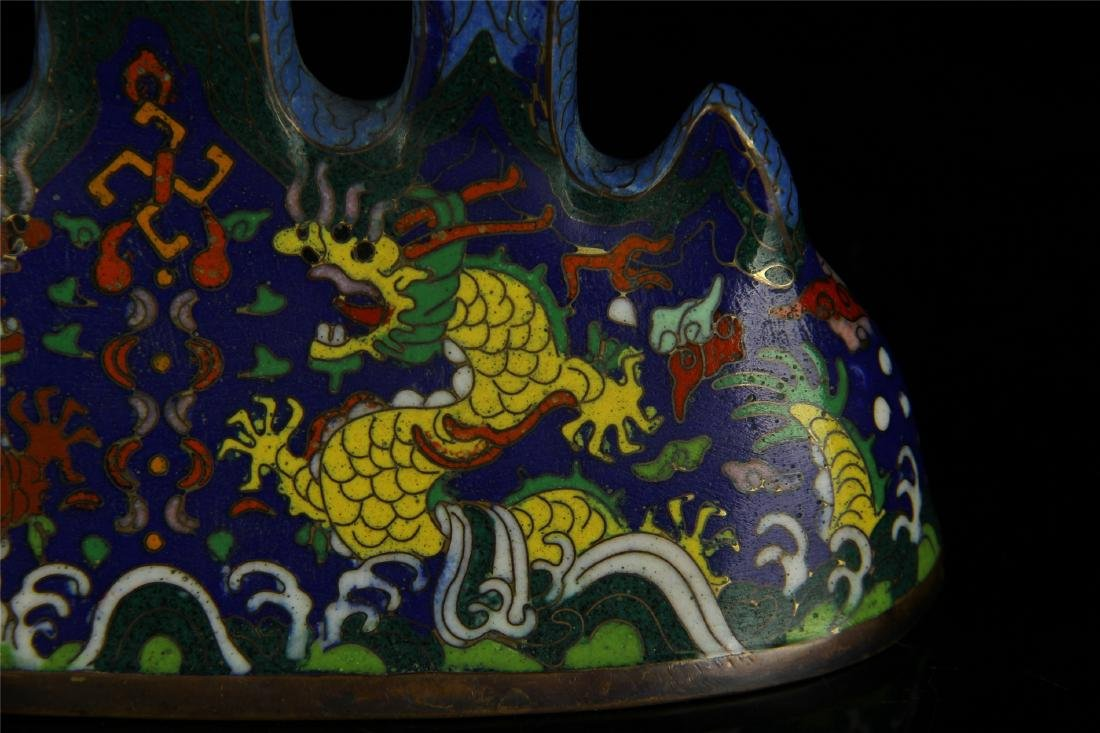CHINESE CLOISONNE BRUSH HOLDER - 5