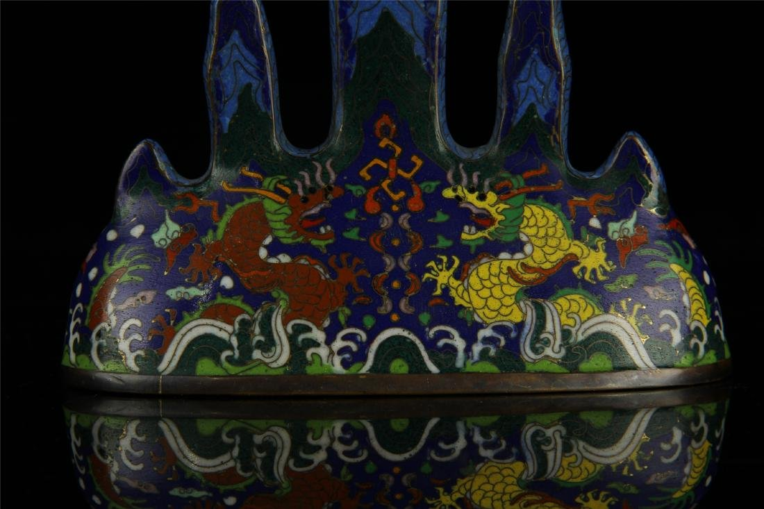 CHINESE CLOISONNE BRUSH HOLDER - 6