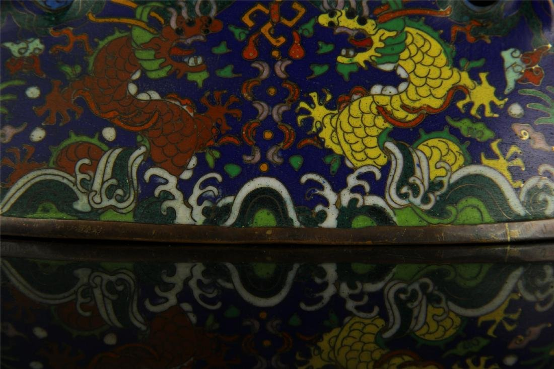 CHINESE CLOISONNE BRUSH HOLDER - 7