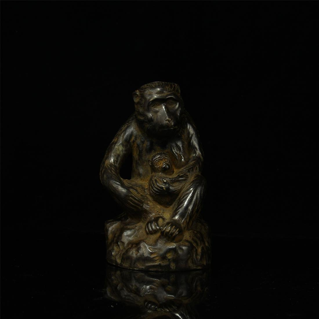 CHINESE BRONZE MONKEY TABLE ITEM