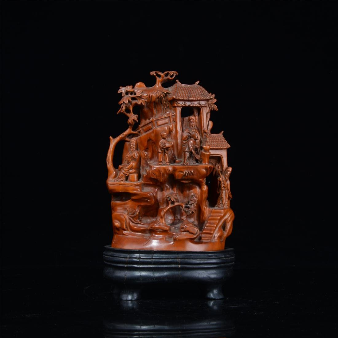 CHINESE BOXWOOD CARVED SCHOLAR'S TABLE ITEM