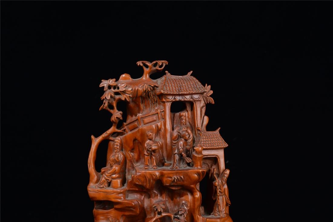 CHINESE BOXWOOD CARVED SCHOLAR'S TABLE ITEM - 2