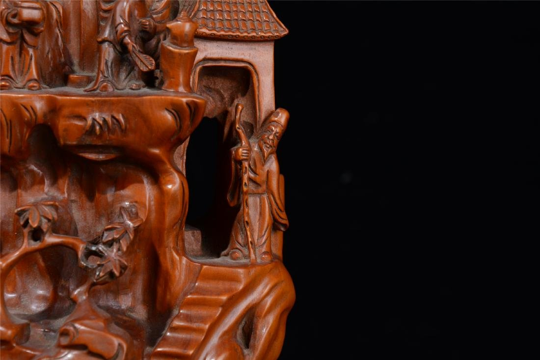 CHINESE BOXWOOD CARVED SCHOLAR'S TABLE ITEM - 3