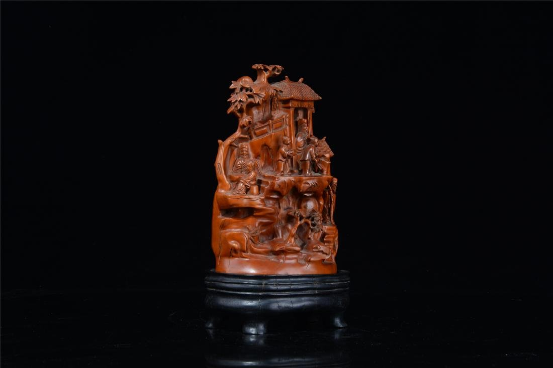 CHINESE BOXWOOD CARVED SCHOLAR'S TABLE ITEM - 6